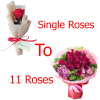 1 to 11 roses to davao philippines, send single to 11 roses to davao