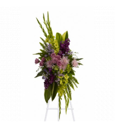 Artistic Green and Purple Standing Spray Online Order to Cebu Philippines