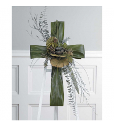 Send Funeral Green Cross Easel To Cebu