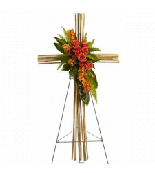 Send Exotic Bamboo Cross Standing Spray to Cebu
