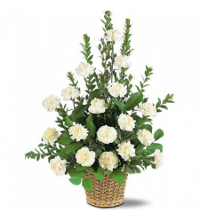 Send White Simplicity Basket To Cebu