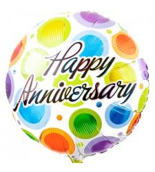 colorful happy anniversary mylar balloon to cebu