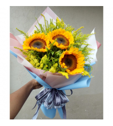3 Stems Sunflower in Bouquet