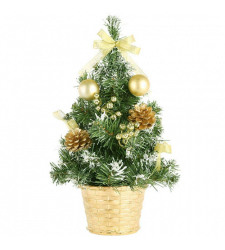 send 20 cm gold green mini christmas tree to cebu