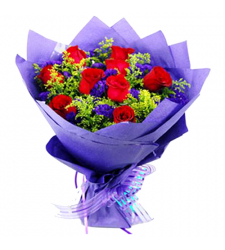 send 12 red roses in bouquet arrangements to davao