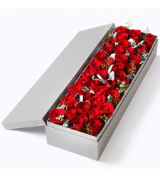 delivery 36 pcs. red color roses in box to davao