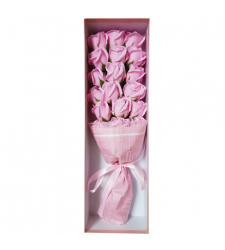 send 18 soft pink color roses in box to davao