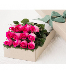 send 12 pcs. pink roses in box to davao Philippines