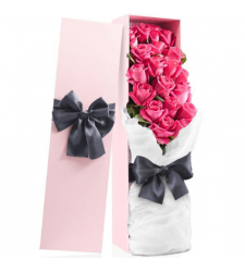 send 24 pcs. pink color roses in box to davao