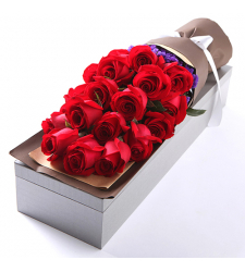 send 2 dozen red color roses in box to davao