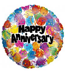 Single Colorful Anniversary Mylar Balloon