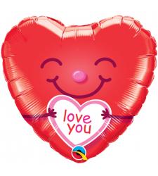 Single Pc. I Love You Mylar Balloon
