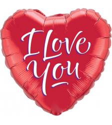 Single I Love You Mylar Balloon