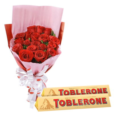 send 12 red roses with toblerone chocolate to davao