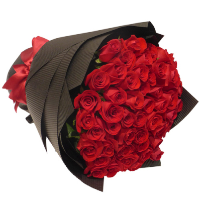 send 50 stems red roses in bouquet to davao