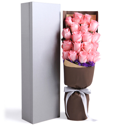 send 19 pink color roses in a box to davao