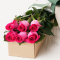 send 6 pink color roses in box to davao